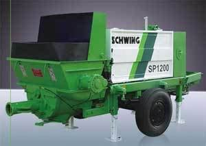 swing shutter concrete pump schwing concrete pump sp 1200 in kanchipuram tamil nadu