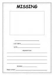 Missing Template by Teaching Worksheets Posters