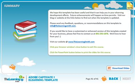 elearning templates the learning smith captivate 7 elearning template