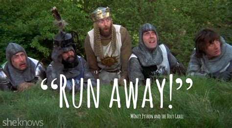 running away 15 best quotes from quot monty python and the holy grail quot holy grail best quotes