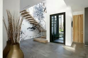 entrance foyer contemporary home with pool has black and white interior modern house designs