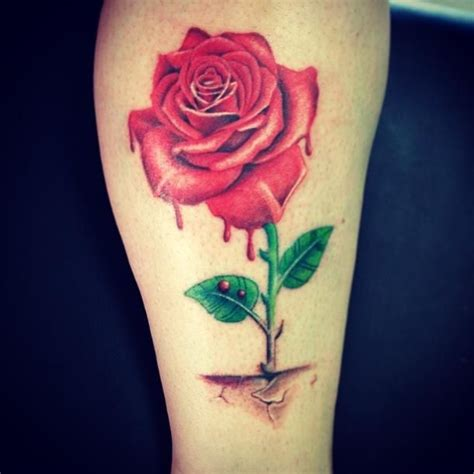 concrete rose tattoo that grew from concrete tattoos roses