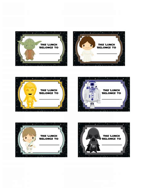 star wars printable luggage tags star wars back to school free printables onion rings