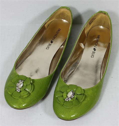 green flats shoes free shipping s 8 lime green ballet flats shoes with