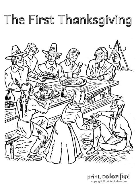 thanksgiving coloring page for first grade first thanksgiving thanksgiving coloring pages for adults
