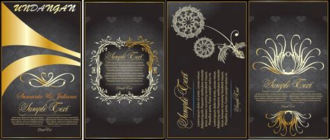 template undangan psd undangan pernikahan lux file cdr banten art design