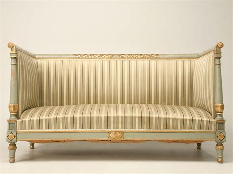 antique directoire style settee by pank