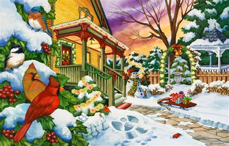 printable winter jigsaw puzzles winter evening jigsaw puzzle puzzlewarehouse com