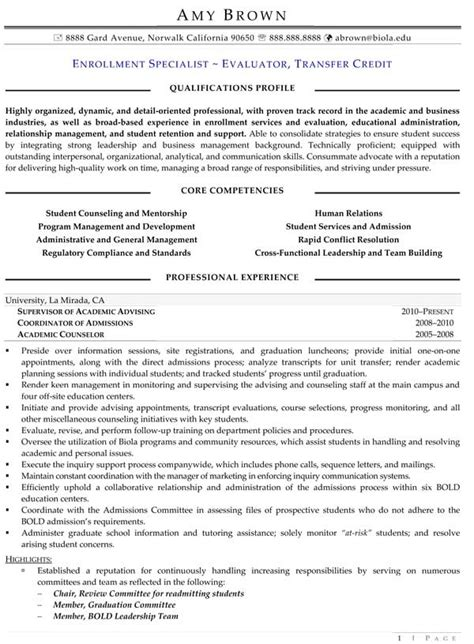 Enrolled Resume Templates Education Resume Exles Resume Professional Writers