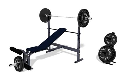 modells weight bench 3d model incline weight bench
