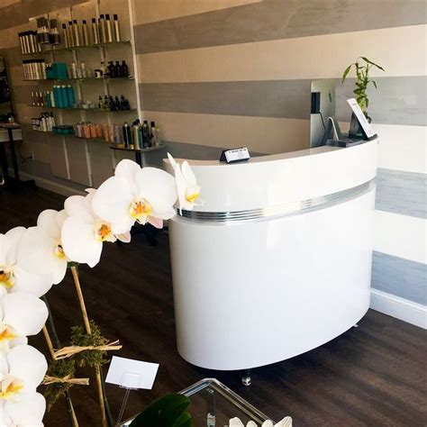 white salon reception desk 17 best ideas about white reception desk on pinterest