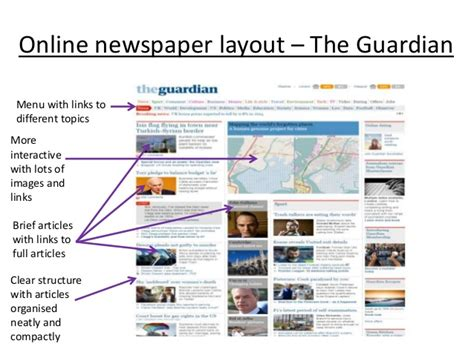 layout online newspaper deconstructing newspaper front pages