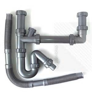 kitchen sink waste pipe kitchen sink double waste pipes 1 5 bowl universal u bend plumbing kit new ebay