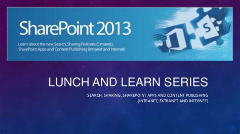 Sharepoint 2013 Lunch And Learn Lunch And Learn Presentation Template