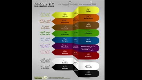 colors in arabic basic colours in arabic asmr whisper