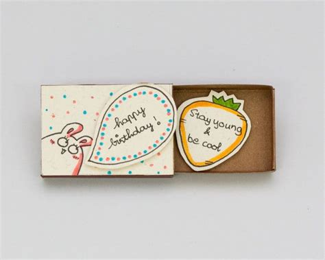 Matchbox Birthday Card
