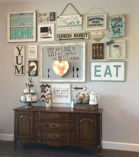 art decoration rustic dining room with ideas wall my gallery wall in our kitchen i m colewifey on ig