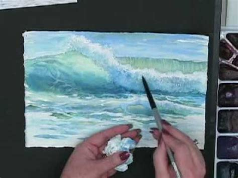 watercolor waves tutorial making waves techniques for painting ocean waves in