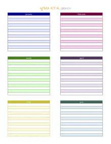 Year At A Glance Template For Teachers creative designs a s plan book