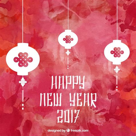 new year freepik new year lanters on watercolor background vector