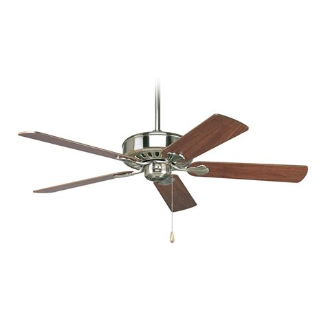 brushed nickel ceiling fan without light progress ceiling fan without light in brushed nickel