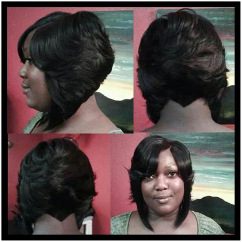 sew in bob w invisible part cute my style i hair invisible part bob black hair more pinterest