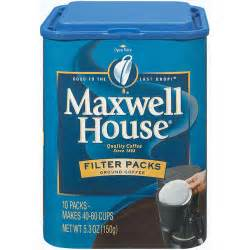 maxwell house filter packs 10 ct coffee 5 30 oz