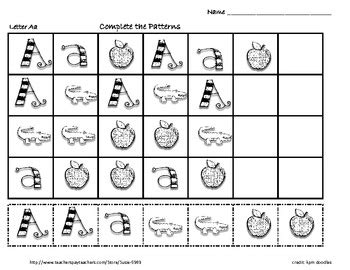 exle of letter pattern in math abc letter id with alphabet math patterns by susie tpt