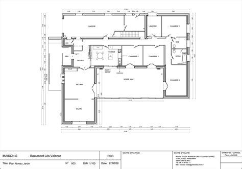 Plan De Maison Moderne 3d by Nouveau Plan De Maison Moderne Plain Pied 4 Chambres