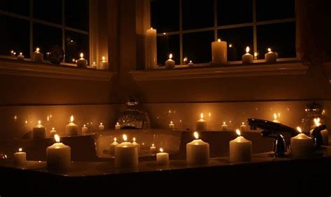 candle lit room and interests relax by candlelight