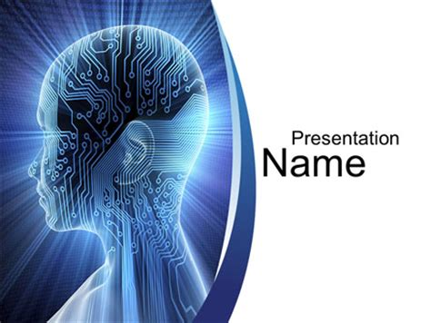Design Software Free Download cybernetic silhouette powerpoint template backgrounds