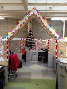 Funny Christmas Cubicle Decorating Ideas Gingerbread Cubical Decorating 1st Place Christmas