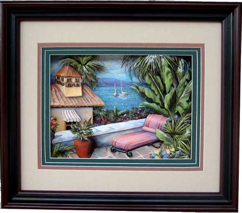How To Make A Box Frame For Decoupage 3d Picture - tropical i paper tole 3d kit size 8x10 8 3916