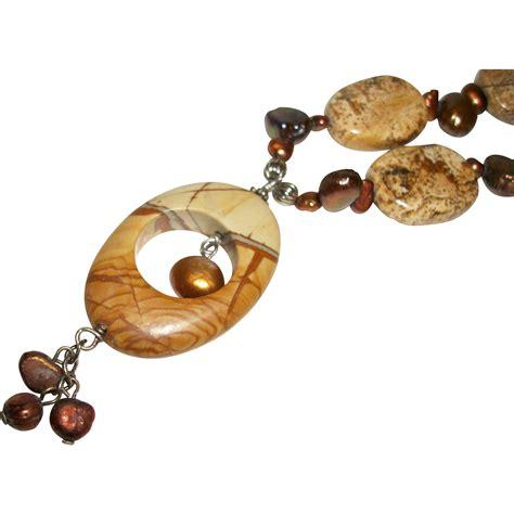 Picture Jasper Pendant artisan picture jasper pendant necklace from