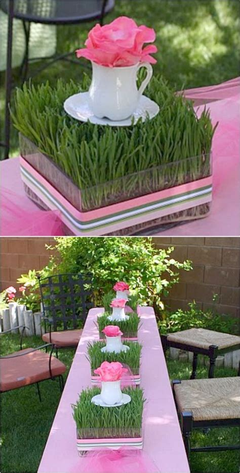 and inexpensive centerpieces using wheat grass start