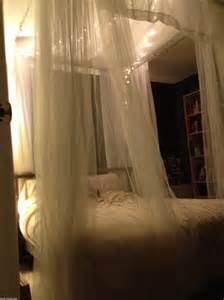 how to hang canopy bed curtains diy romantic bed canopies the budget decorator bedrooms