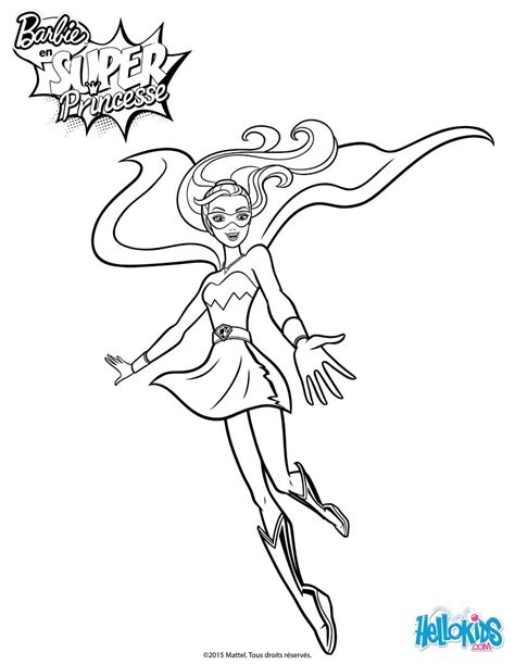 barbie superhero coloring pages barbie super princess coloring page from the movie barbie