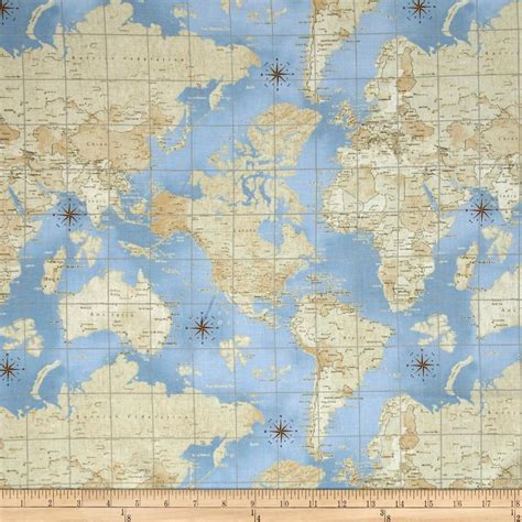 fabric pattern map theory of aviation world map multi discount designer