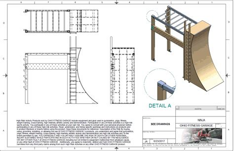 wall blueprints plans for a ninja warrior warped wall for a local gym ohio fitness garage pinterest local