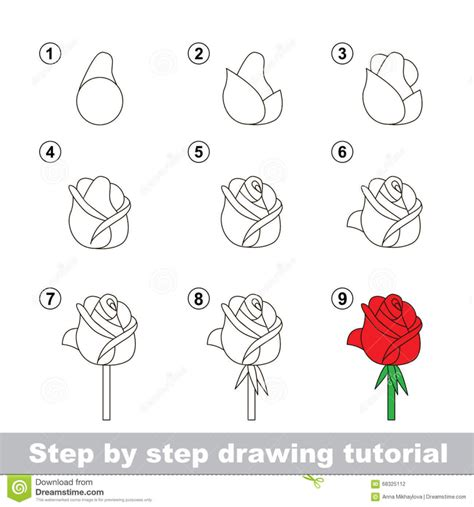 drawing step by step drawing roses step by step drawing library