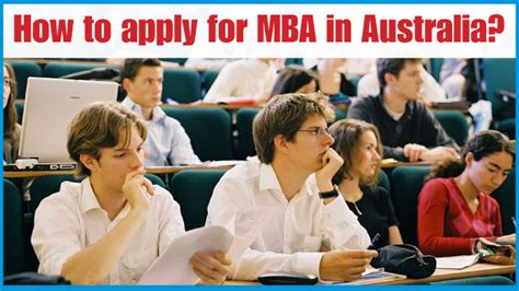 Mba In Australia For International Students by How To Apply For Mba In Australia