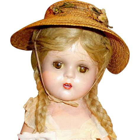 composition doll marked 13 13 quot composition madame mcguffey doll sold on