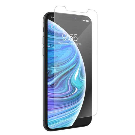 zagg invisibleshield vision guard screen protector for iphone xr walmart