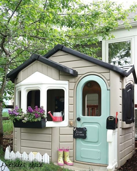 Playhouse Makeovers Are The New Upcycling Trend For Kids Plastic Cottage Playhouse