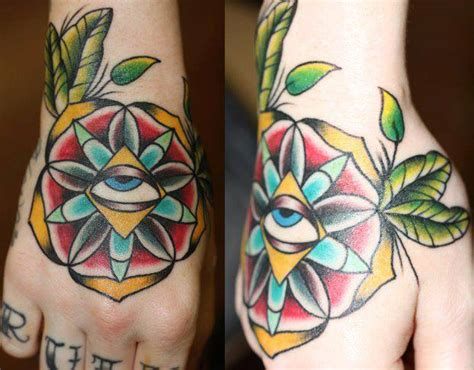 tattoo old school third eye back of hands gypsy girl and third eye wolf tattoos by kat