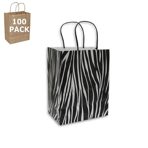 Large Shopping Bag Zebra zebra paper cub size shopping bag 100 pack