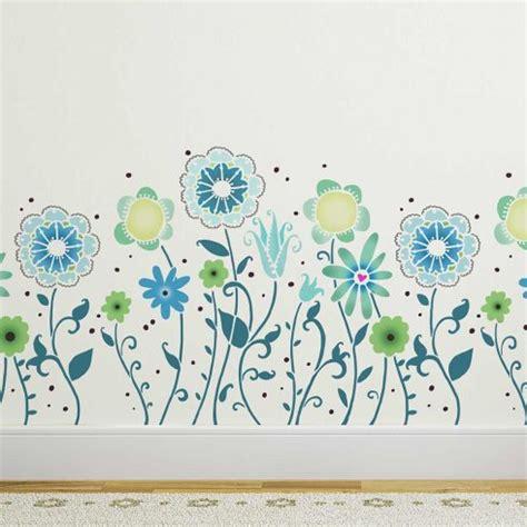 Garden Wall Stencils by Floral Pattern Border Stencils Reusable Stencil By