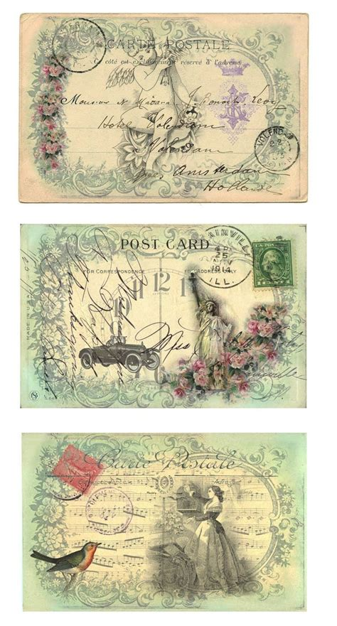 Vintage Note Card Template by 25 Great Ideas About Post Cards Vintage On