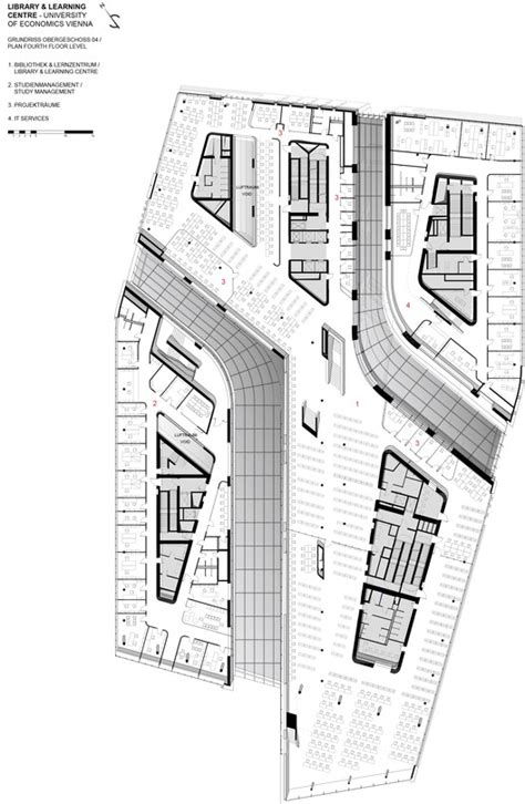 zaha hadid floor plan library and learning centre university of economics vienna