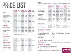 haircut price list hair cut colour peterborough